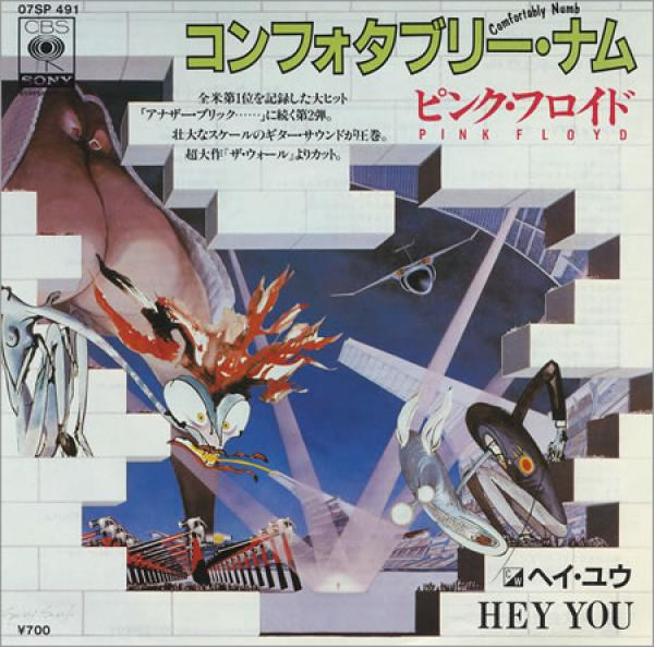 Pochette japonaise de Comfortably Numb / Hey You