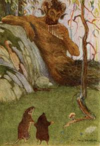 "Illustration de Paul Bransom (1913) pour le chapitre ""The Piper at the Gates of Dawn""."