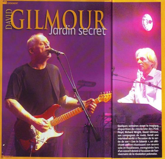 David Gilmour : Jardin Secret (page 1)